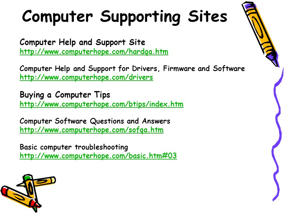 Computer Supporting Sites