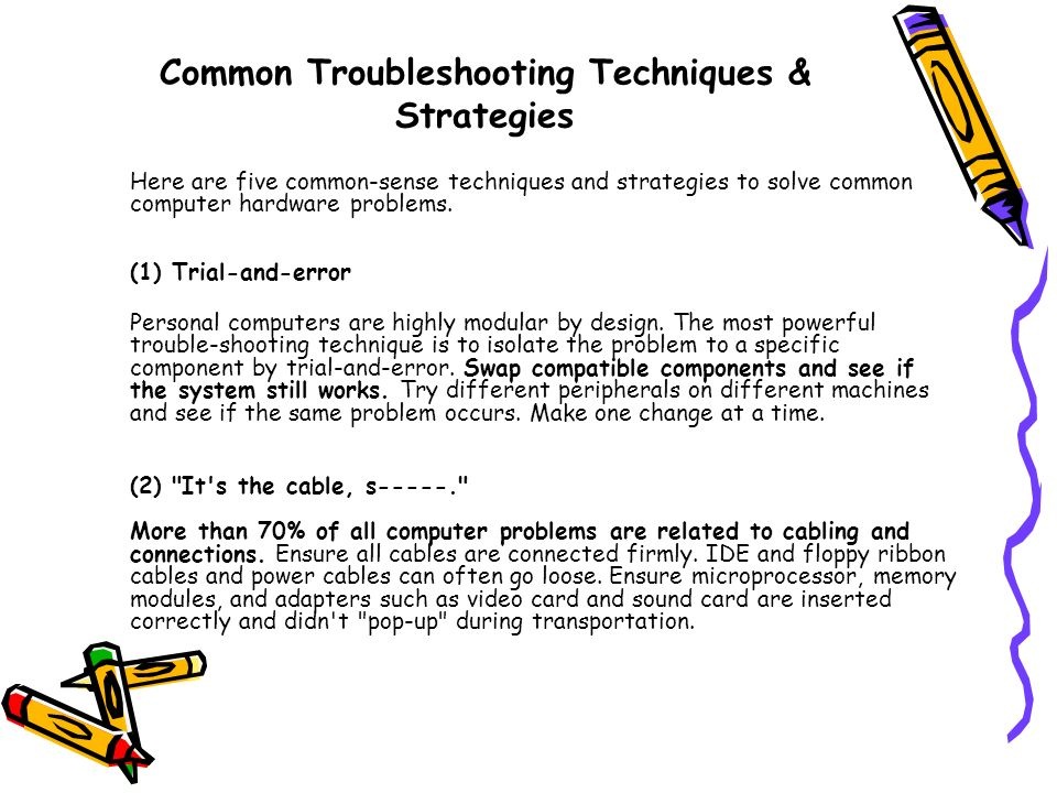 Common Troubleshooting Techniques & Strategies