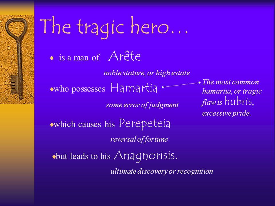 The tragic hero… is a man of Arête who possesses Hamartia