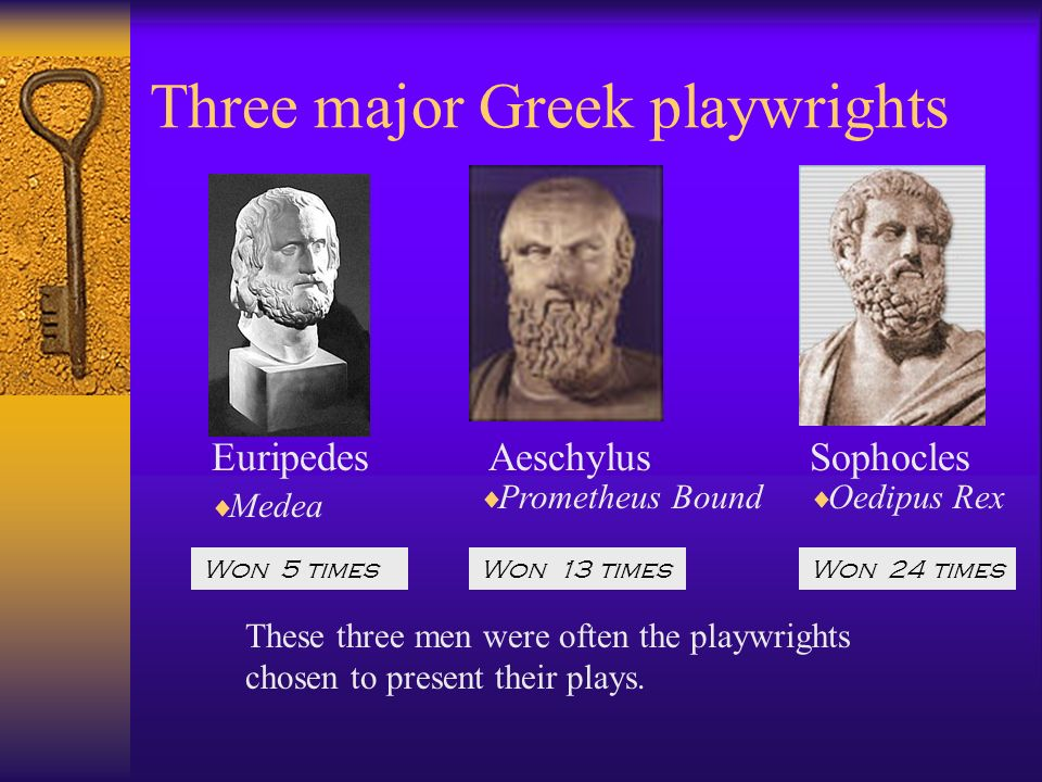 Three major Greek playwrights