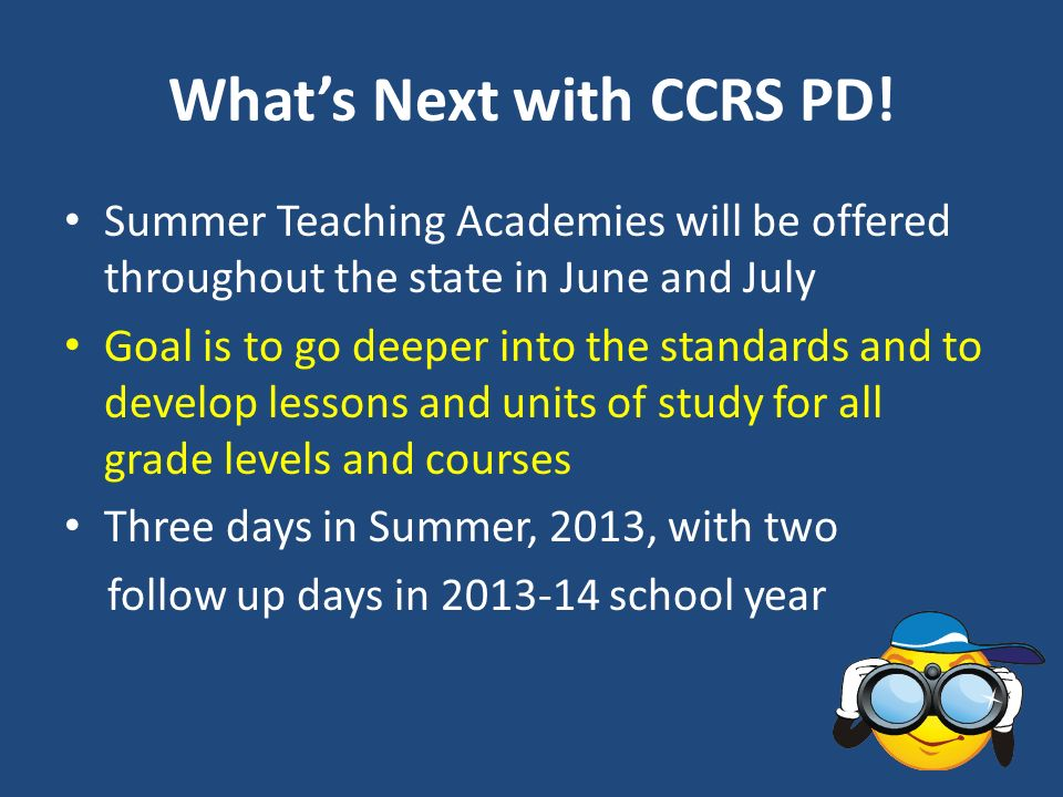What's Next with CCRS PD!