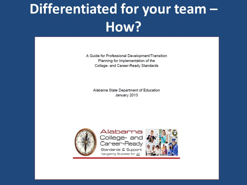 Differentiated for your team – How