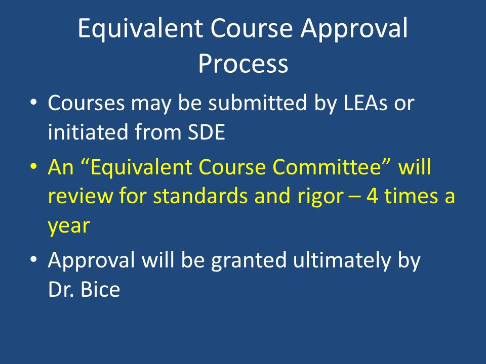 Equivalent Course Approval Process