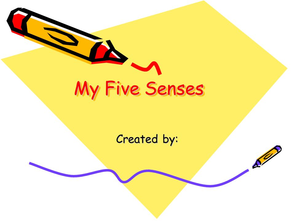 My Five Senses Created by: