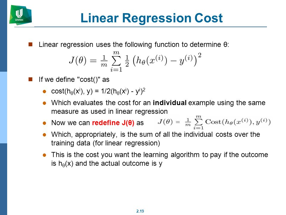 the cost function notes Lecture notes on di erentiation a tangent line to a function at a point is the line that best  the graph of a typical cost function starts concave down and later.