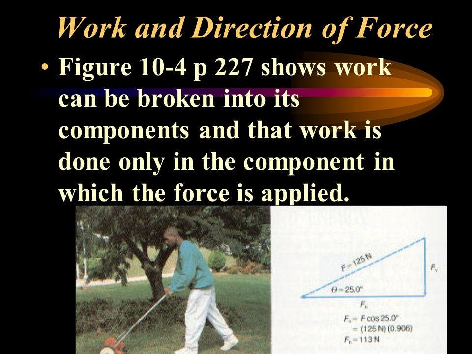 Work and Direction of Force