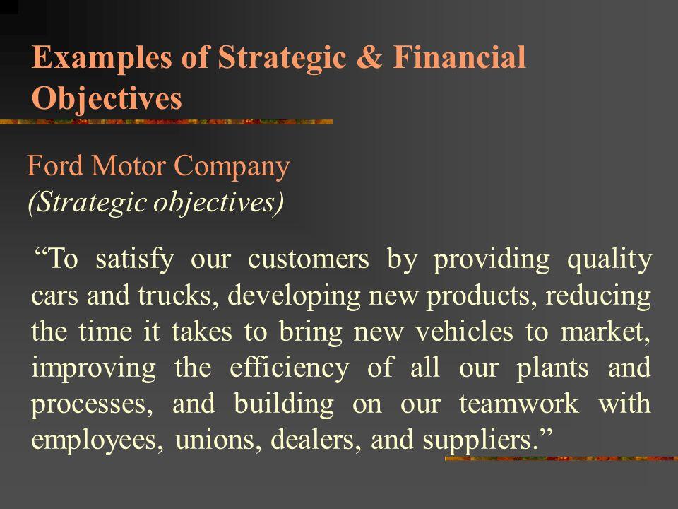 Ford motor company objectives for Ford motor company strategy