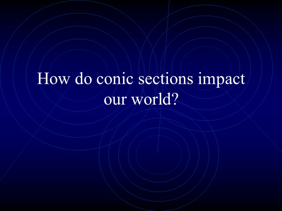 How do conic sections impact our world