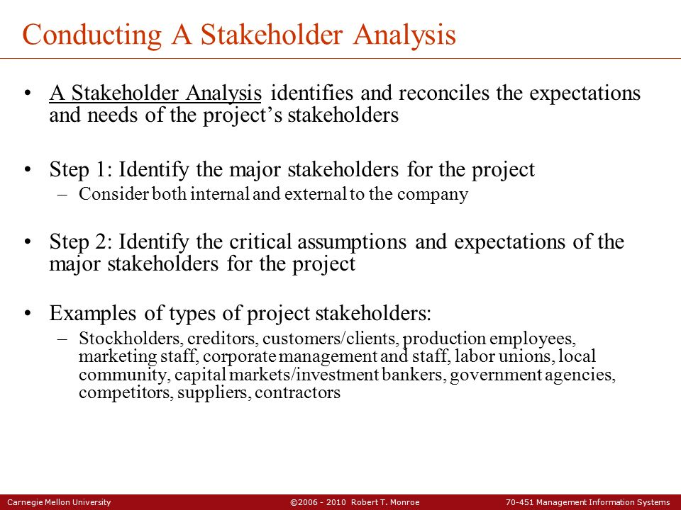 conduct a stakeholder analysis for a Example stakeholder analysis - a stakeholder analysis template and a real world stakeholder analysis example for an it project shows power interest matrix and influences lines after bryson and eden and ackermann.