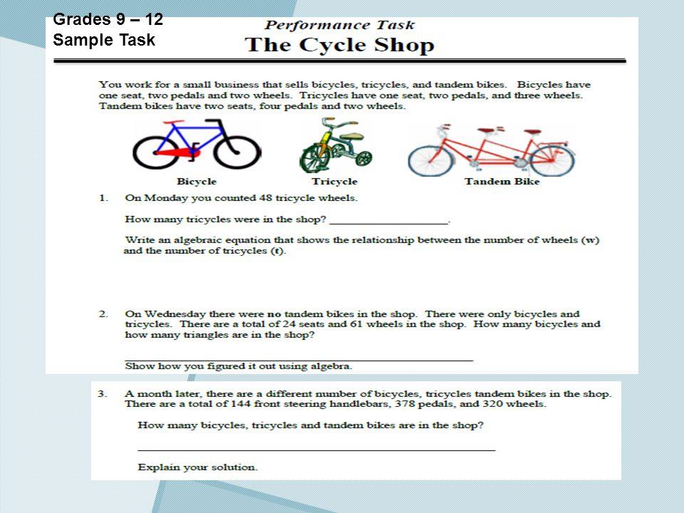 Grades 9 – 12 Sample Task