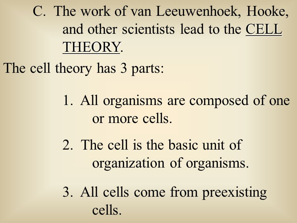 C. The work of van Leeuwenhoek, Hooke,