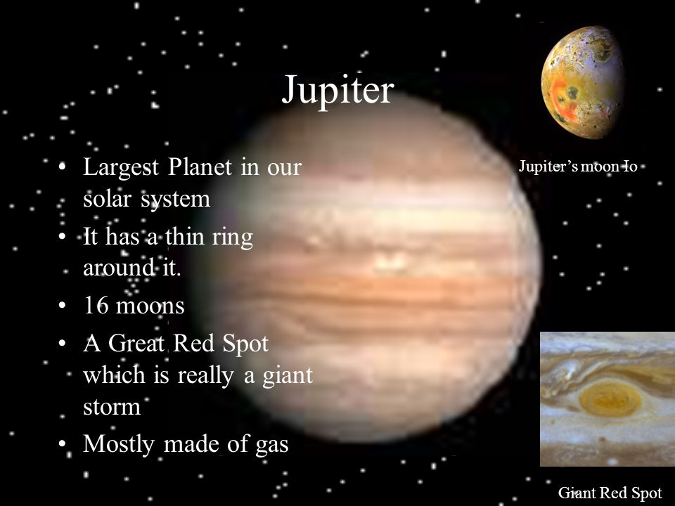 Jupiter Largest Planet in our solar system