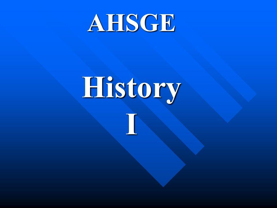 AHSGE History I
