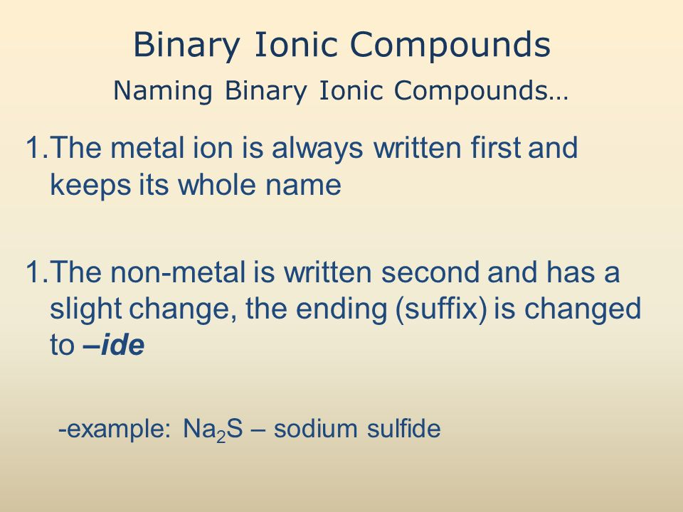 4.1 Representing Ionic Compounds - ppt download