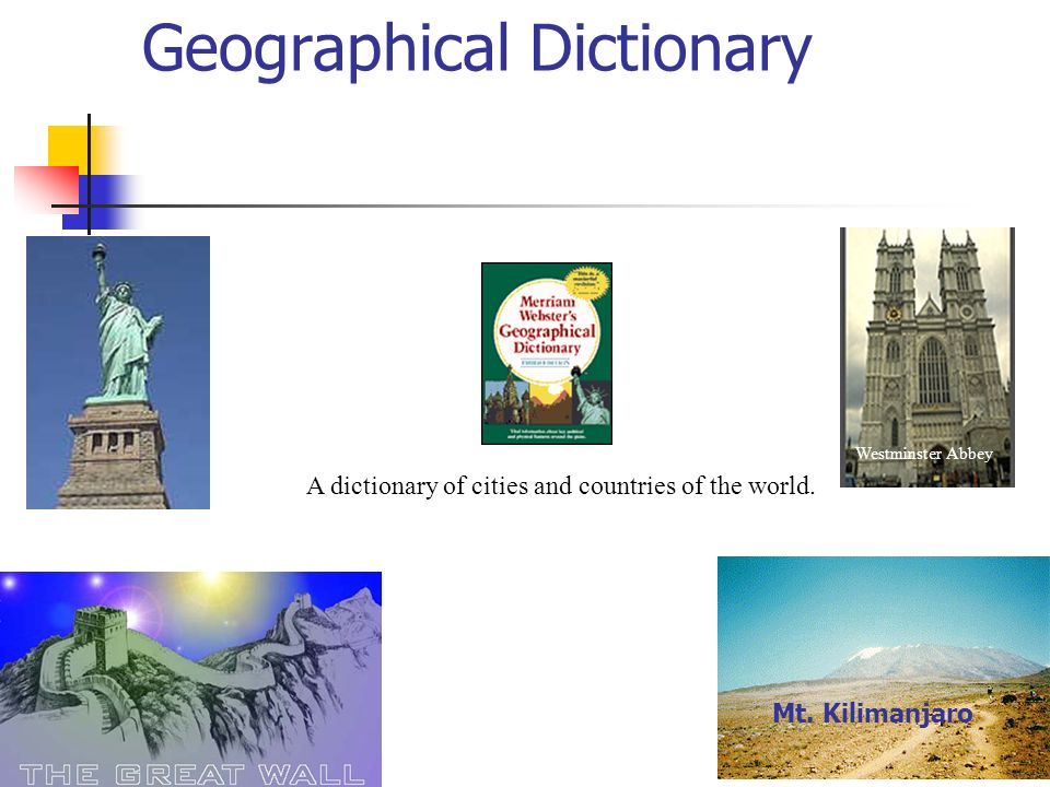 Geographical Dictionary