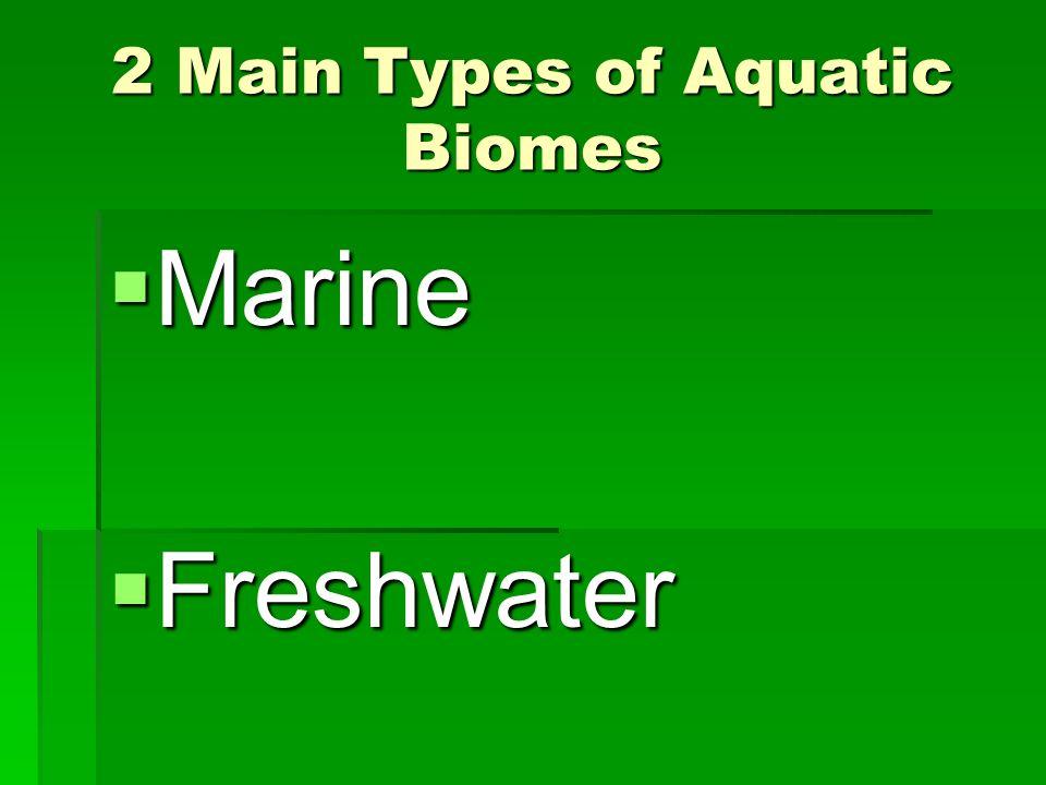 2 Main Types of Aquatic Biomes