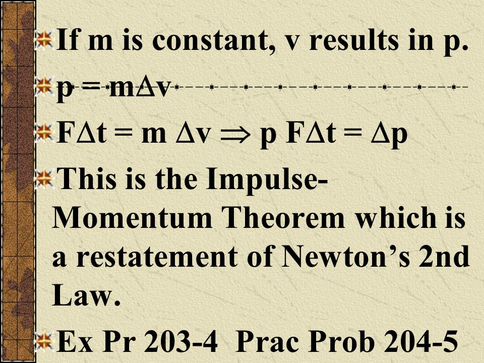 If m is constant, v results in p.