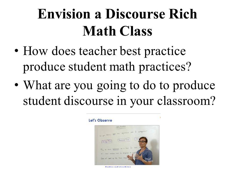 Envision a Discourse Rich Math Class