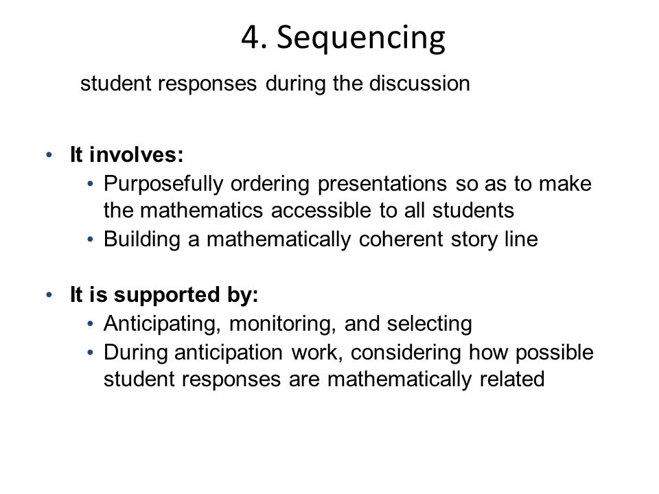student responses during the discussion