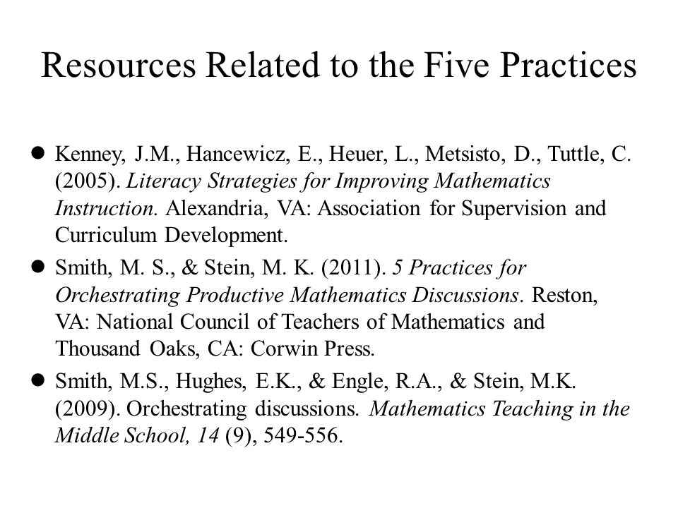 Resources Related to the Five Practices