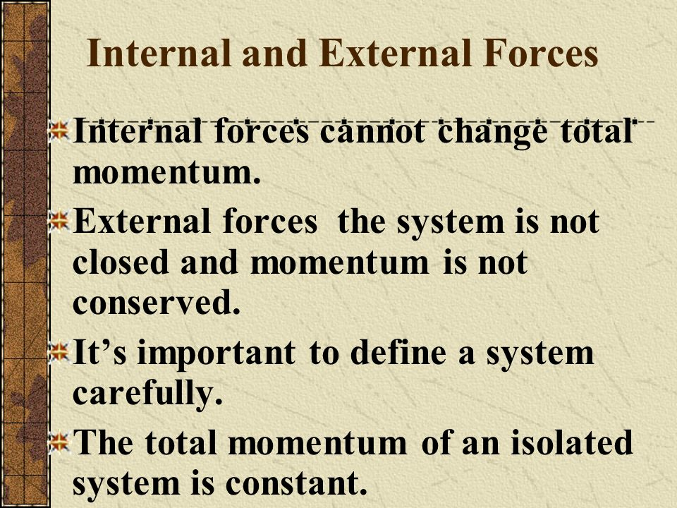 Internal and External Forces