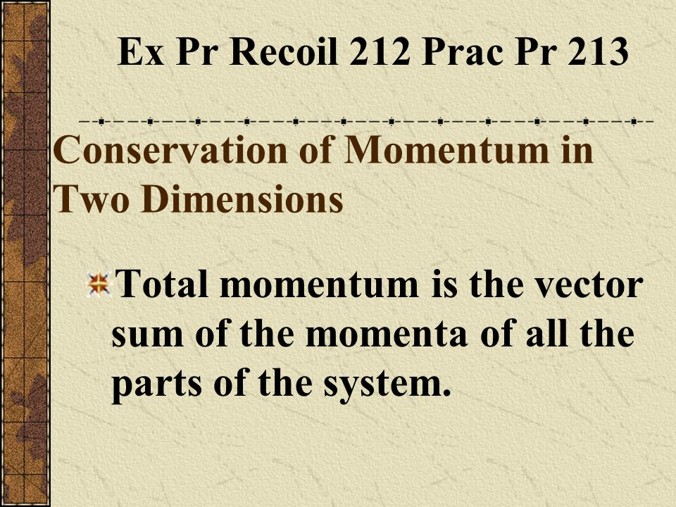 Conservation of Momentum in Two Dimensions