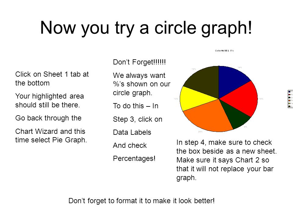 Now you try a circle graph!