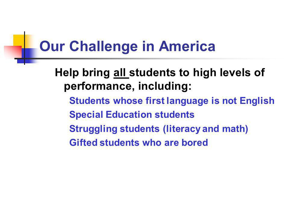 Our Challenge in America