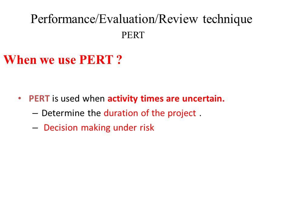 Performance/Evaluation/Review technique