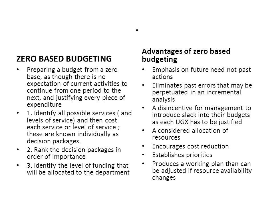 benefits activity based budgeting Activity based budgeting (abb) is a system that could be useful in managing   this paper studies the possibilities, benefits, and difficulties that may face the.
