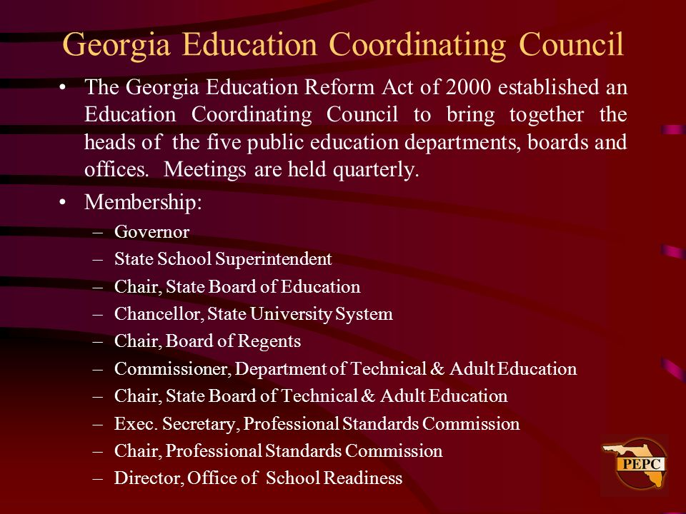 Georgia Education Coordinating Council