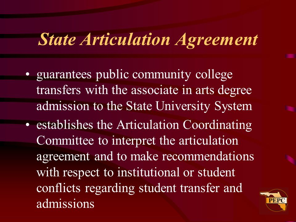 State Articulation Agreement