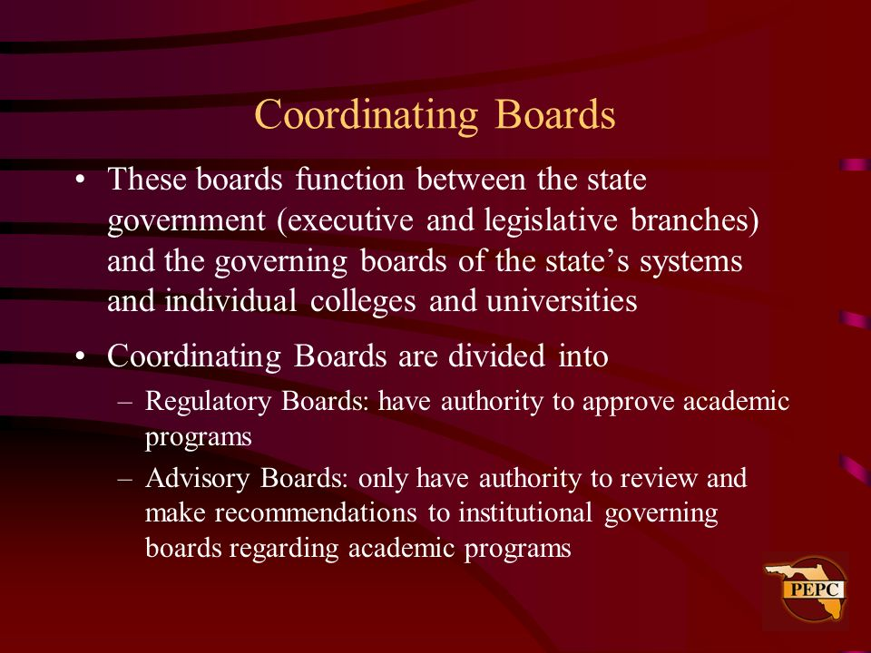 Coordinating Boards