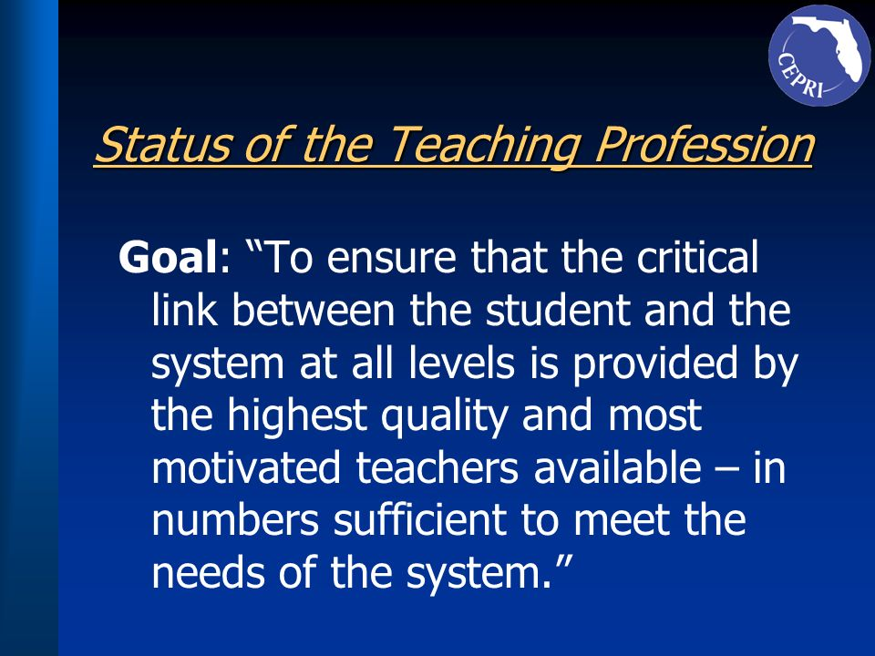 Status of the Teaching Profession