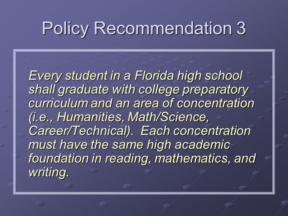 Policy Recommendation 3