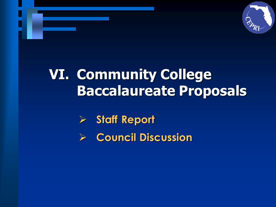 Baccalaureate Proposals