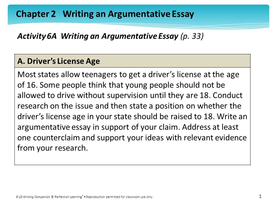 Argumentative essay on drinking age