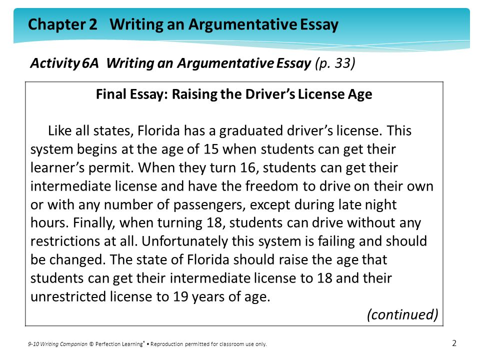 definitive argumentative essays Argumentative essay/commentary : composition writing studio : the university of toledo.