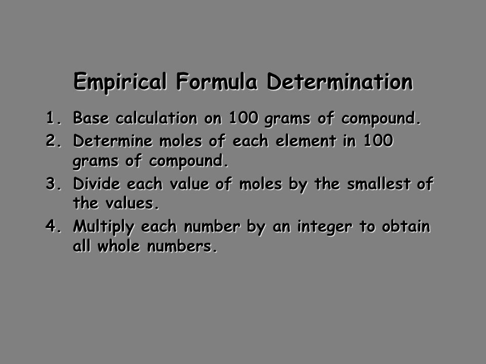 determination of emperical formula Category: essays research papers title: empirical formula of magnesium oxide.