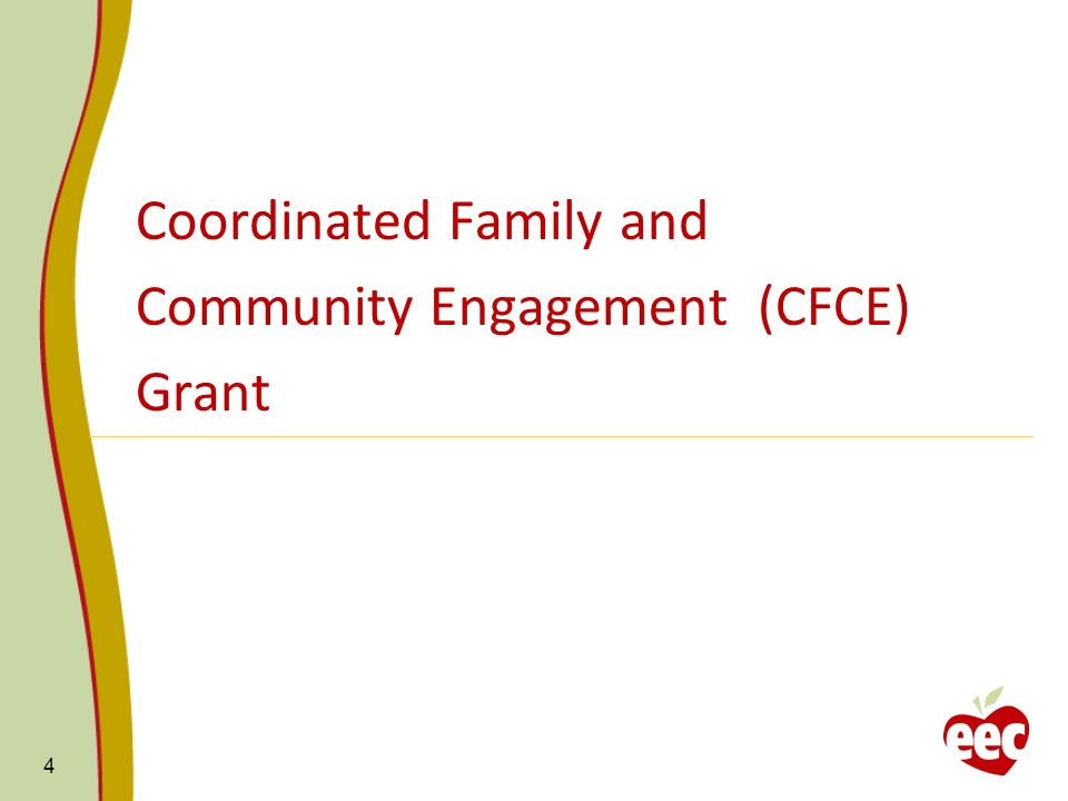 Coordinated Family and Community Engagement (CFCE) Grant