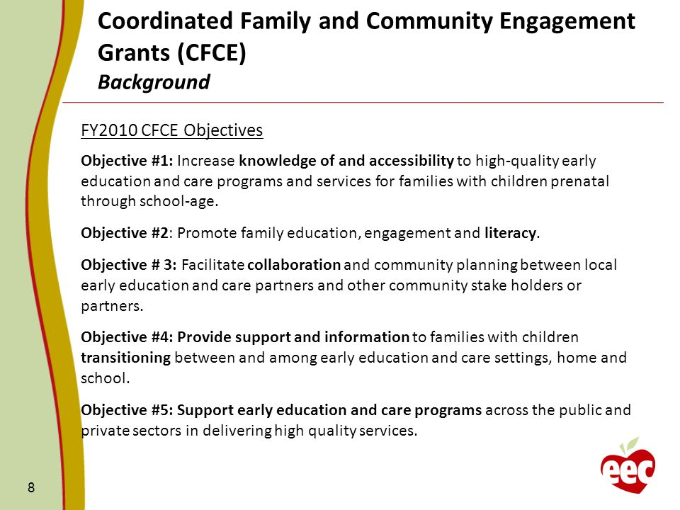 Coordinated Family and Community Engagement Grants (CFCE) Background