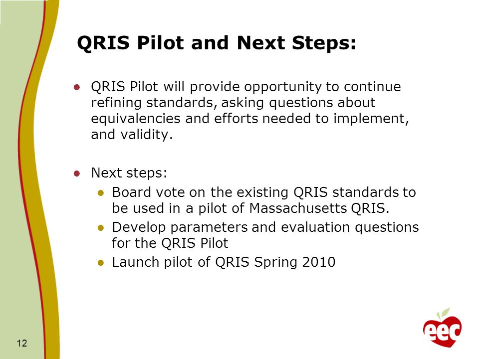 QRIS Pilot and Next Steps: