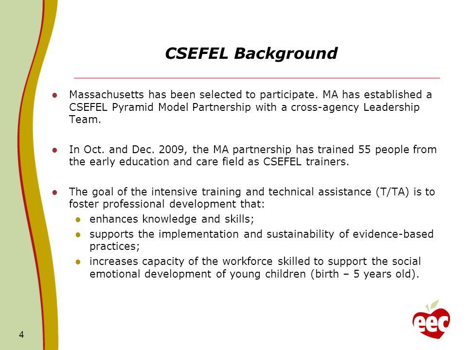 CSEFEL Background