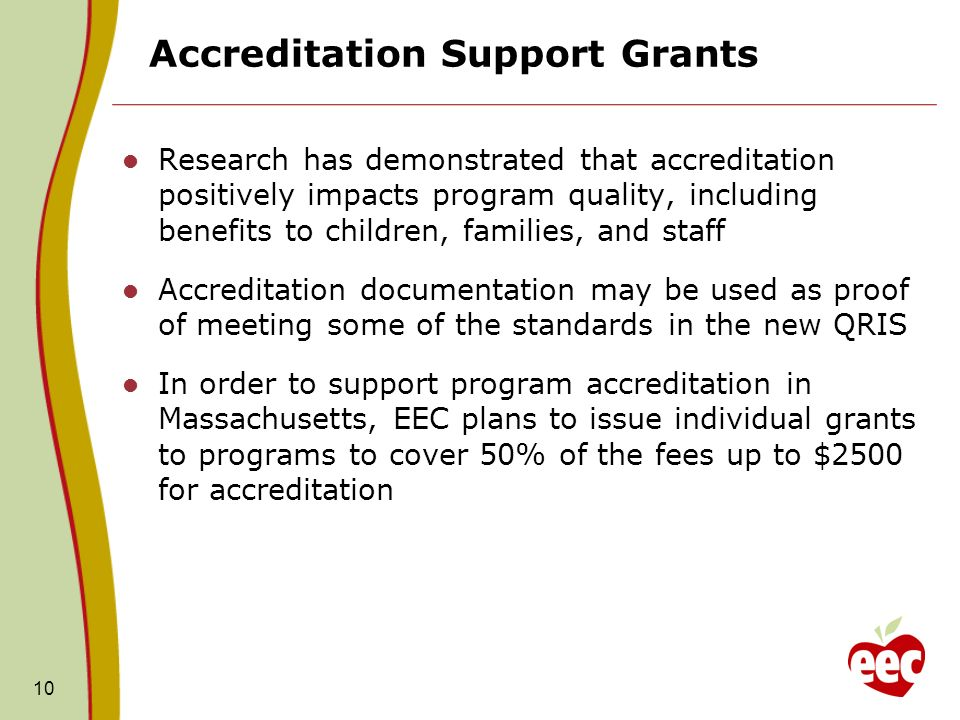 Accreditation Support Grants