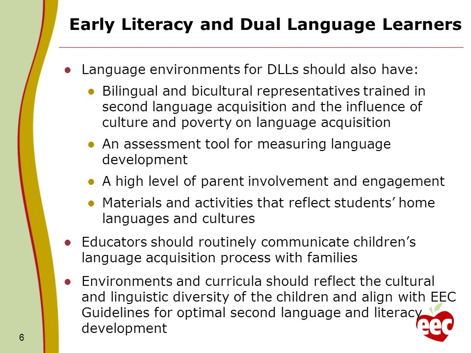 Early Literacy and Dual Language Learners