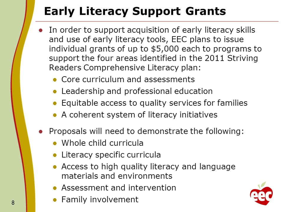 Early Literacy Support Grants