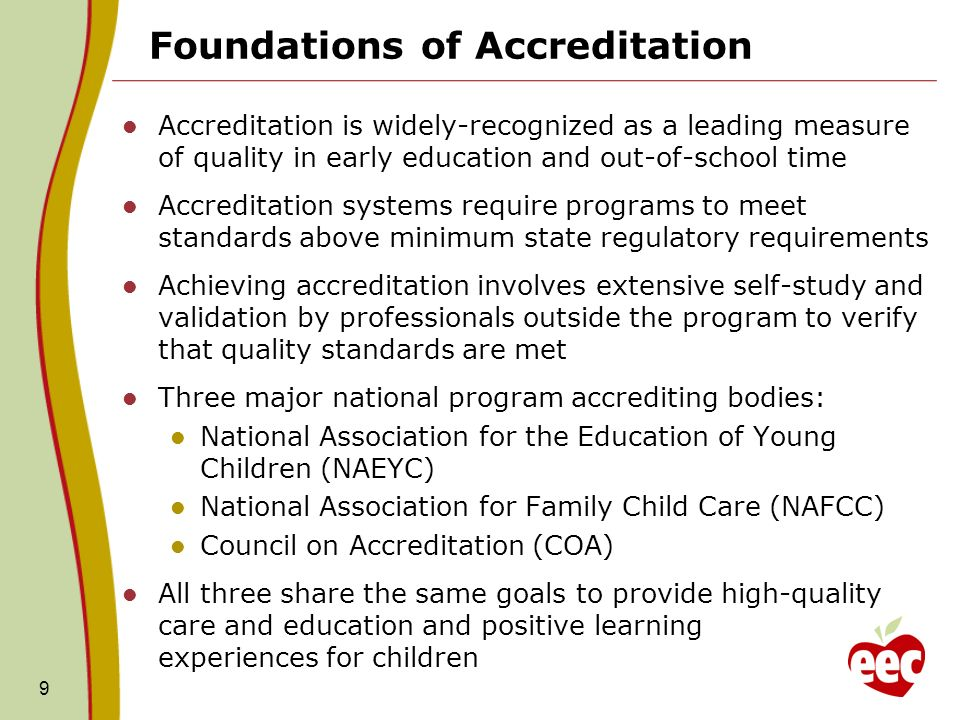 Foundations of Accreditation