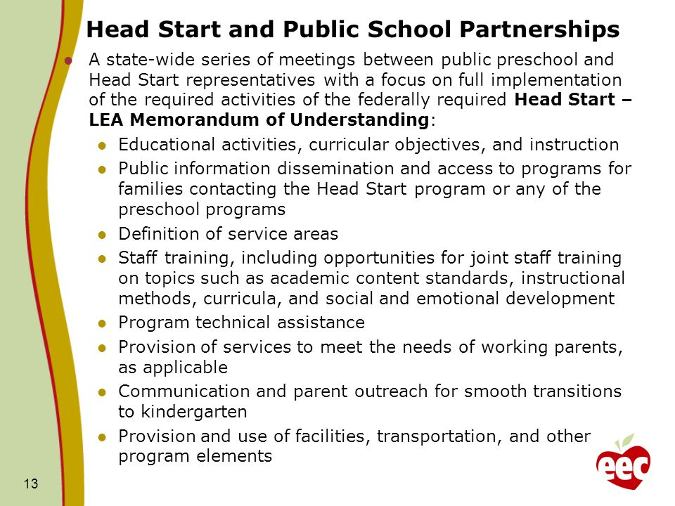Head Start and Public School Partnerships