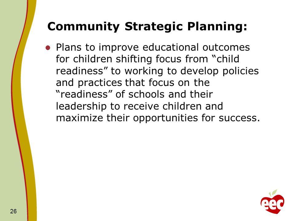 Community Strategic Planning: