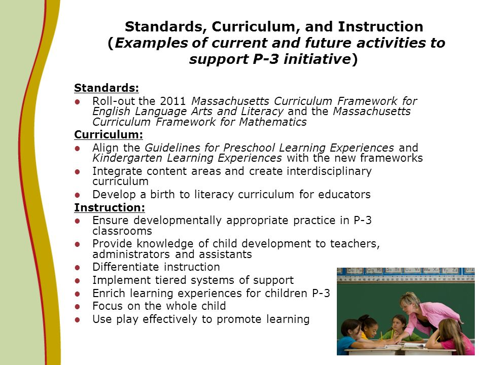 massachusetts preschool standards